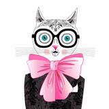Cat portrait hipster - 63988563