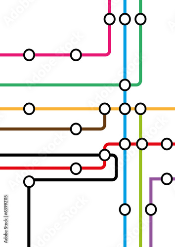 Fotografie, Obraz  subway map