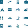 Travel, leisure and tourism icon set vector.