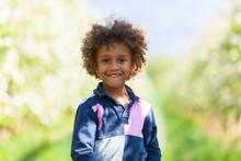 Cute African American Little B...