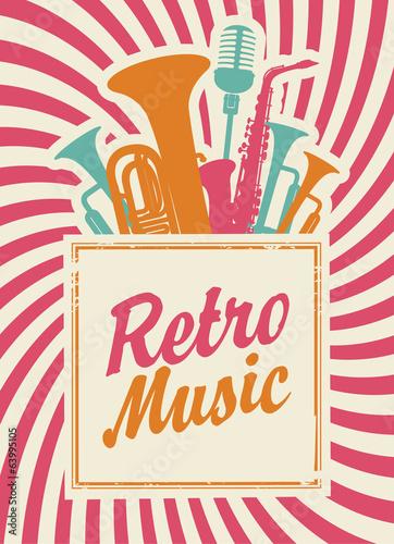 transparent-z-napisem-muzyki-retro