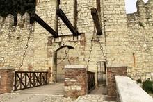 Old Castle Door And Drawbridge