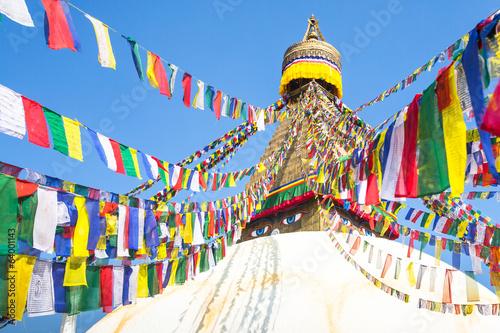 Staande foto Nepal Bodhnath Stupa with Buddha Eyes in Kathmandu.