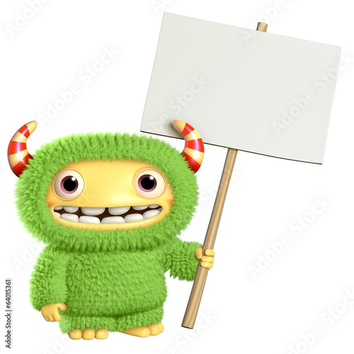 Poster de jardin Doux monstres 3d cartoon monster
