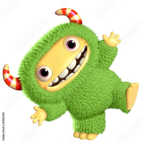 Foto op Canvas Sweet Monsters 3d cartoon monster