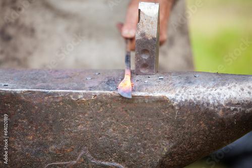 Fotografia, Obraz forger une lame d'un couteau