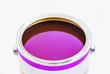Farbdose zum Lackieren - Malern in lila