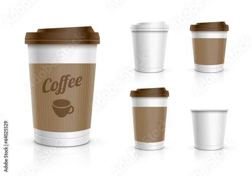 Billede på lærred Disposable Cup Set