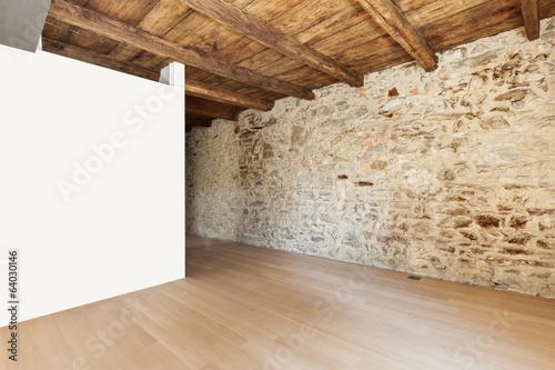 piekny-nowoczesny-loft-pusty-pokoj-z-kamiennymi-scianami