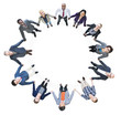 Business People Holding Hands Forming a Circle