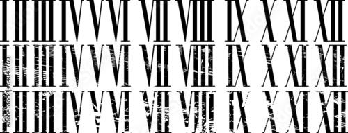 Fotomural  Roman numerals