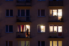 Window Of An Apartment Block A...
