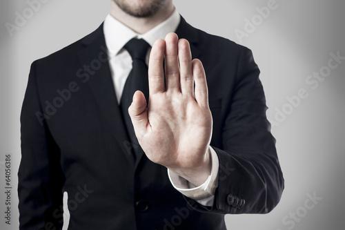 Fotografie, Obraz  hand stop