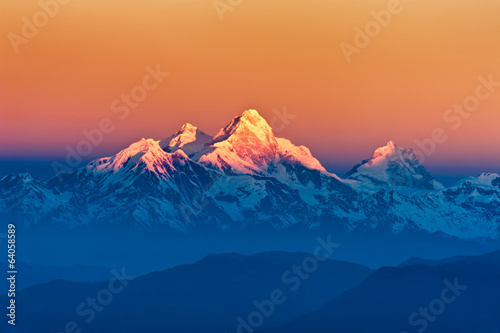 Door stickers Nepal Himalayan Mountains View from Mt. Shivapuri