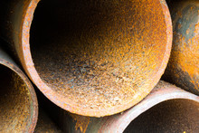Part Of Rusty Old Pipes Stacke...