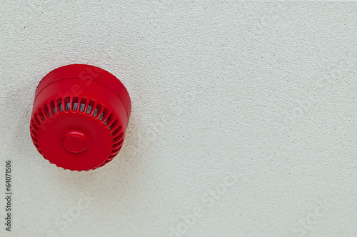 Smoke fire alarm sound alert domestic red round ceiling home