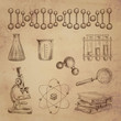 Science doodle icons