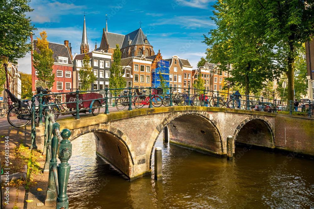 Fotografie, Obraz  Amsterdam panoráma