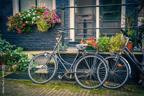 Tuinposter Fiets Bicycles in Amsterdam