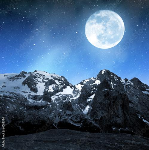 Foto op Aluminium Oceanië Marmolada peak,Val di Fassa - Italy Alps