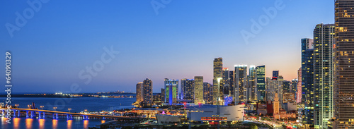 Panoramic view of Miami Tablou Canvas