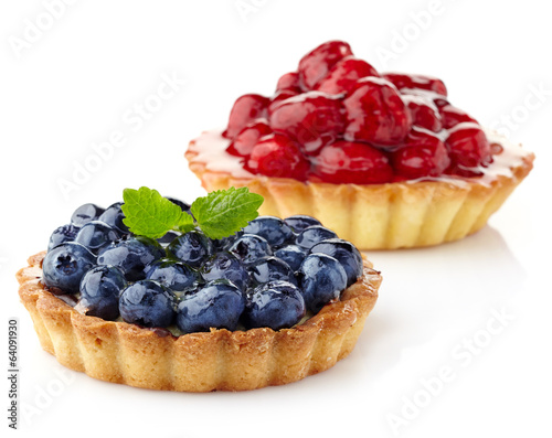 Fotografía Blueberry and raspberry tarts