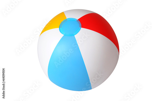 Foto op Aluminium Bol Isolated beach ball