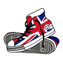 Drawing Old Athletic Shoes