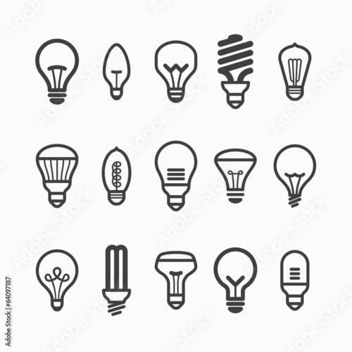 Photographie  Light bulb icons