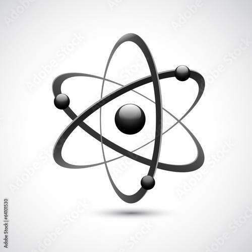 Leinwand Poster Atom logo symbol 3d