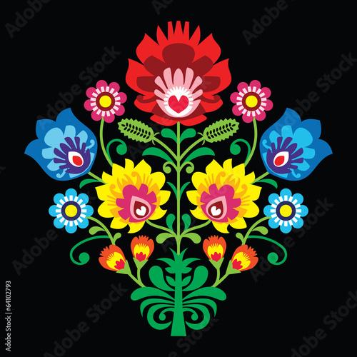polski-haft-ludowy-z-kwiatami-tradycyjny-wzor