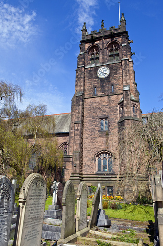 Plagát  St. Peter's Church in Woolton, Liverpool
