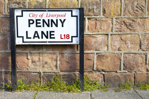 Photo  Penny Lane in Liverpool