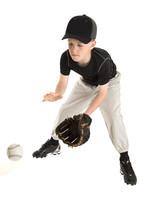 Young Caucasian Baseball Playe...