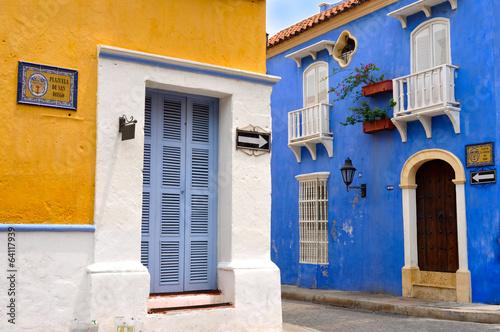 Fotografía  Typical Colonial houses, Old City of Cartagena