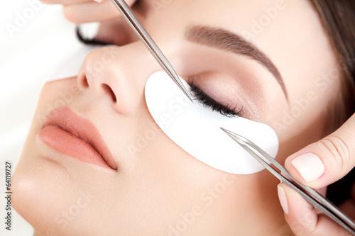 Obraz na plátně  Woman Eye with Long Eyelashes. Eyelash Extension