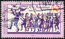 Stamp Printed In The Germany Shows Pied Piper