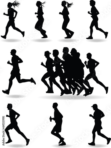 Fotografie, Obraz  runner silhouette vector