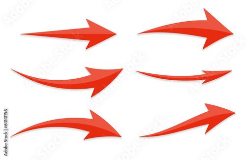 Fotografía  Arrow Icon Sign Set. Vector Illustration.