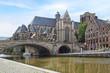 canvas print picture - Historic Centre of  Ghent.