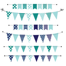 Blank Banner, Bunting Or Swag Templates