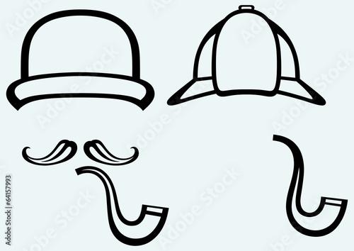 Sherlock Holmes. Icon Detective Canvas Print