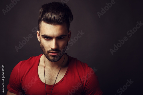 Male beauty portrait
