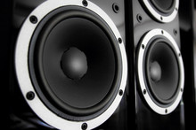 Black Audio Speakers