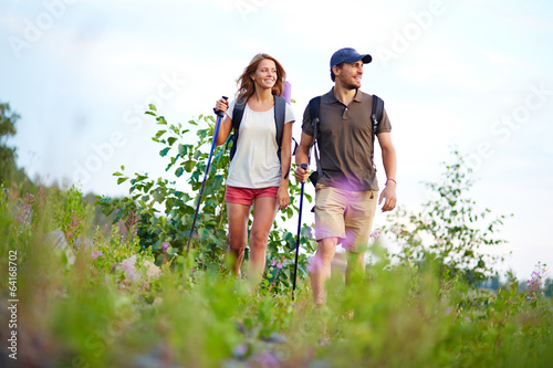 Hiking together Poster