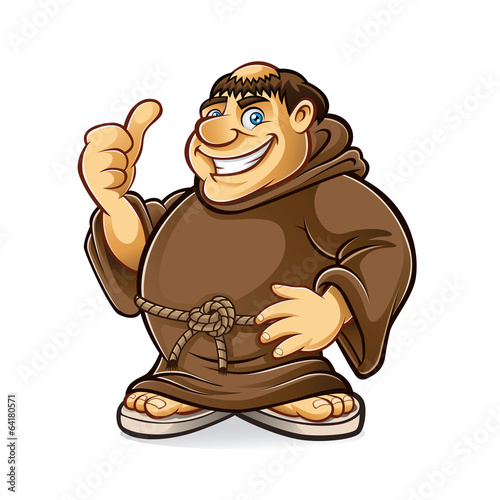 Fototapeta Fat Monk