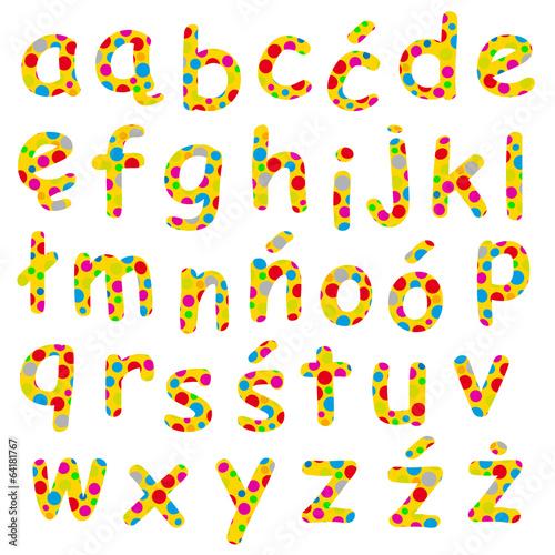 Plakat abecadło - alfabet polish-alphabet