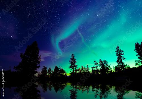 Photo  Northern lights aurora borealis