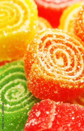 sweet jelly candies, close up - 64188564