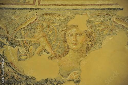 "Fotografie, Obraz  ""Mona Lisa of the Galilee"" - mosaic floor in Tzippori, Israel"